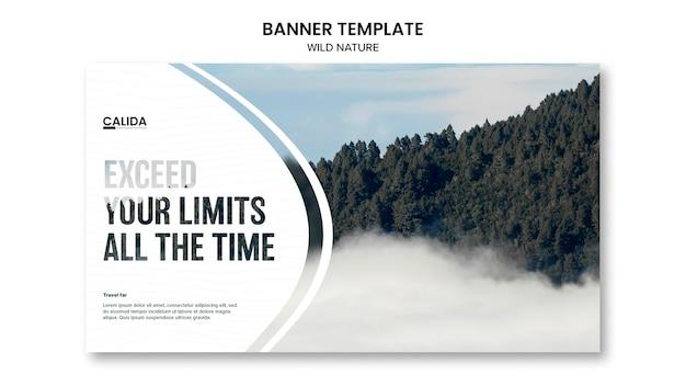 Modèle De Bannière Créative De Nature Sauvage Psd gratuit