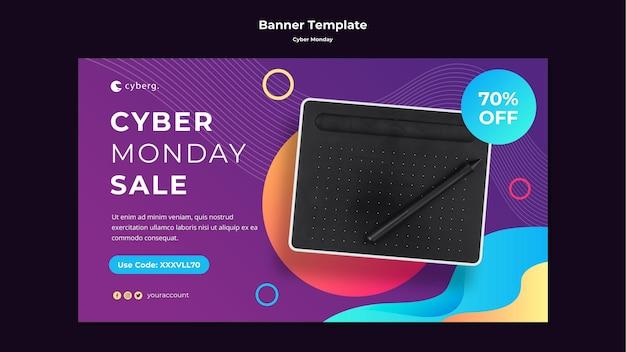 Modèle De Bannière Cyber Monday Psd gratuit