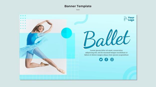 Modèle De Bannière De Danseur De Ballet Psd gratuit