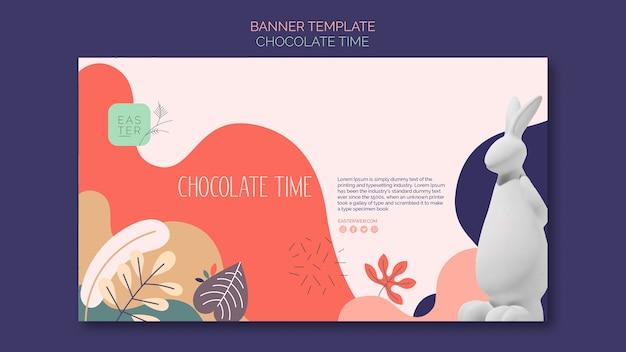 Modèle De Bannière Avec Design Chocolat Psd gratuit