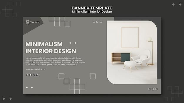 Modèle De Bannière De Design D'intérieur Minimaliste PSD Premium