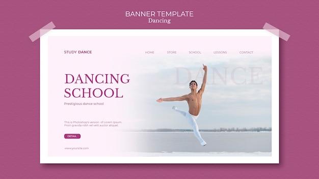 Modèle De Bannière école De Danse Homme Avec Mouvements Psd gratuit