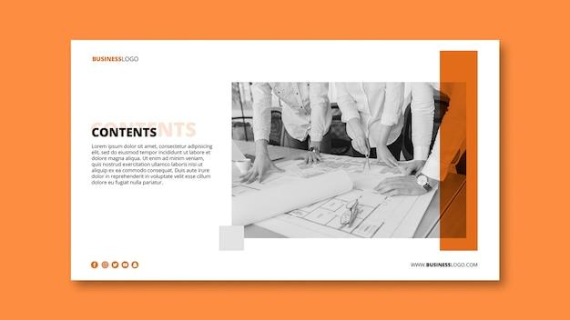 Modèle de bannière d'entreprise moderne avec image Psd gratuit