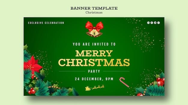 Modèle De Bannière De Fête De Noël Psd gratuit