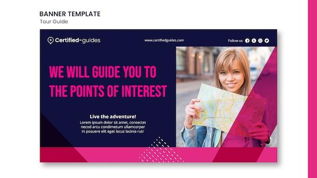 Modèle De Bannière De Guide Touristique PSD Premium