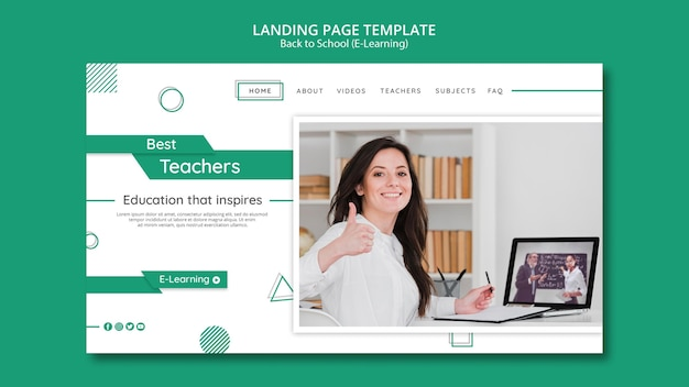 Modèle De Bannière Horizontale Créative E-learning Psd gratuit