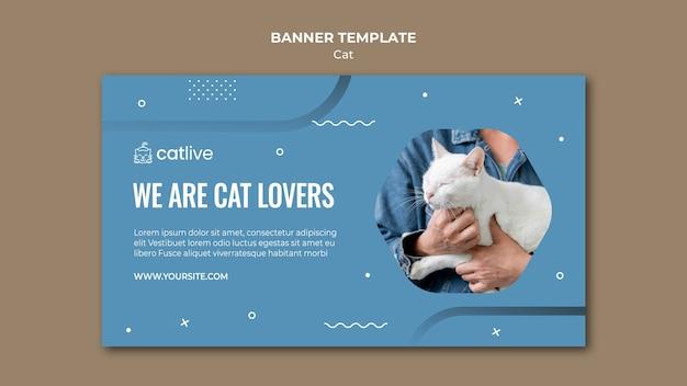 Modèle De Bannière Horizontale Pour Les Amoureux Des Chats Psd gratuit