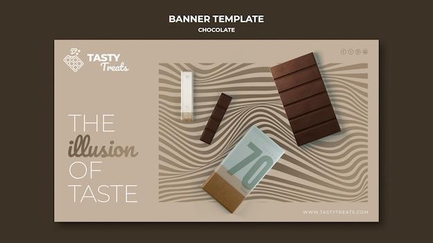 Modèle De Bannière Horizontale Pour Le Chocolat Psd gratuit