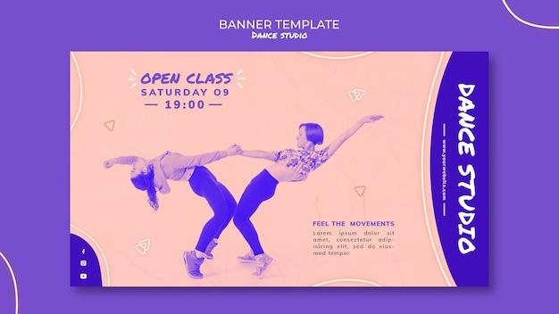Modèle De Bannière Horizontale De Studio De Danse Psd gratuit