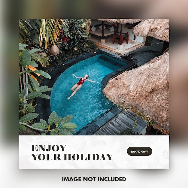 Modèle De Bannière Instagram De Voyage Ou De Vacances PSD Premium