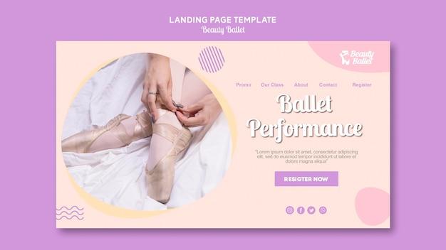 Modèle De Bannière De Jour De Ballet Psd gratuit