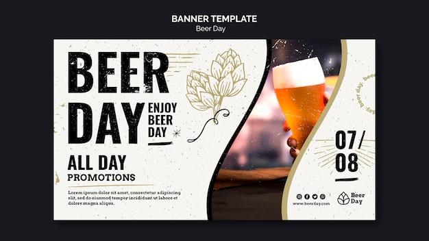 Modèle De Bannière De Jour De Bière Psd gratuit
