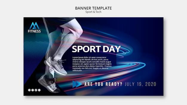 Modèle De Bannière De Jour De Sport Psd gratuit