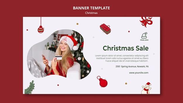 Modèle De Bannière De Magasin De Cadeaux De Noël Psd gratuit