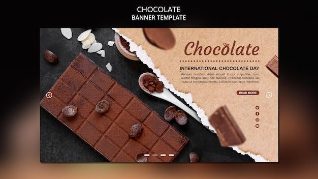 Modèle De Bannière De Magasin De Chocolat Psd gratuit