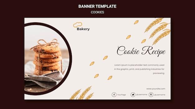 Modèle De Bannière De Magasin De Cookies Psd gratuit