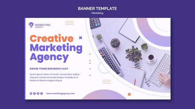 Modèle De Bannière De Marketing Créatif Psd gratuit
