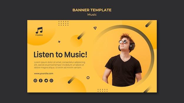 Modèle De Bannière De Musique Psd gratuit