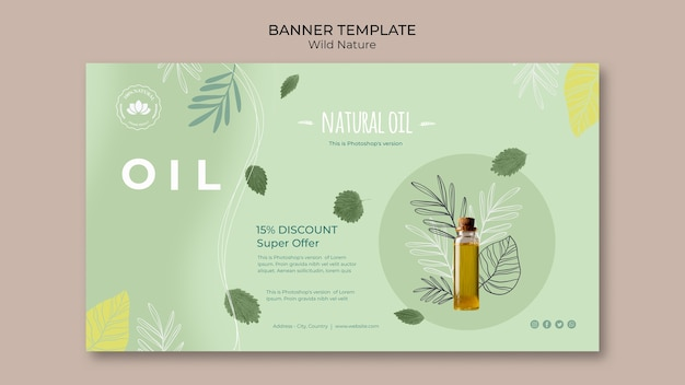 Modèle De Bannière D'offre Spéciale D'huile Naturelle Psd gratuit
