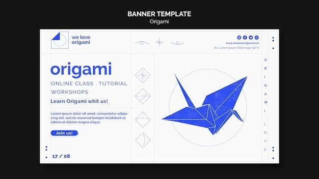 Modèle De Bannière Origami Psd gratuit