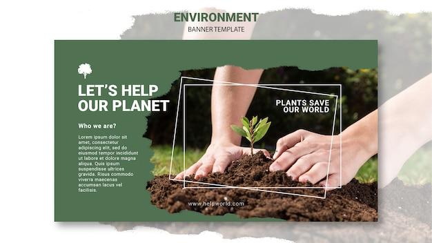 Modèle De Bannière De Plantes Sauvant La Terre Psd gratuit