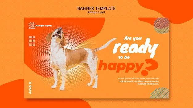 Modèle De Bannière Pour L'adoption D'animaux De Compagnie à Partir D'un Refuge Psd gratuit