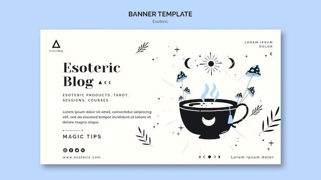 Modèle De Bannière Pour Blog ésotérique Psd gratuit