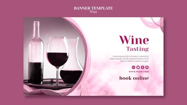 Modèle De Bannière Pour La Dégustation De Vin Psd gratuit