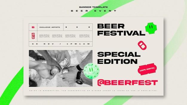 Modèle De Bannière Pour Le Festival De La Bière Psd gratuit