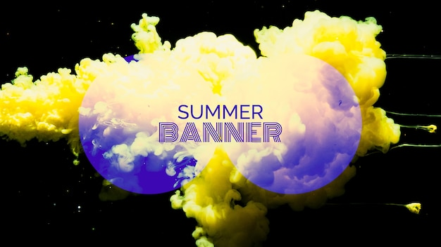 Modèle de bannière pour le festival d'été Psd gratuit