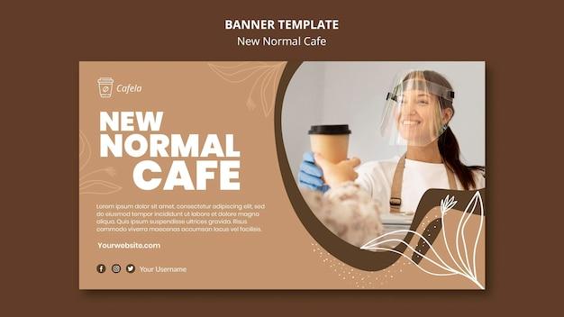 Modèle De Bannière Pour Un Nouveau Café Normal Psd gratuit