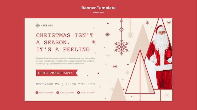 Modèle De Bannière Pour La Vente De Noël. Psd gratuit