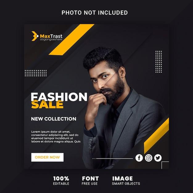 Modèle De Bannière De Promotion De Vente De Mode Pour Instagram PSD Premium