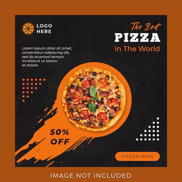 Modèle De Bannière De Publication De Médias Sociaux De Promotion De Menu De Pizza PSD Premium