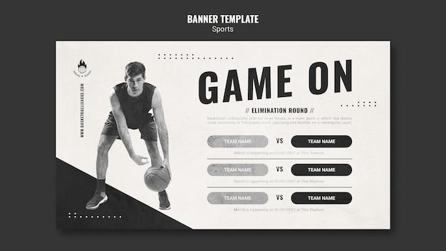 Modèle De Bannière Publicitaire De Basket-ball Psd gratuit