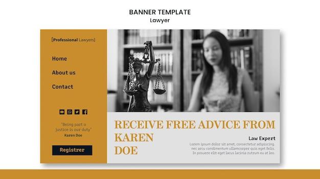 Modèle De Bannière Publicitaire De Cabinet D'avocats Psd gratuit