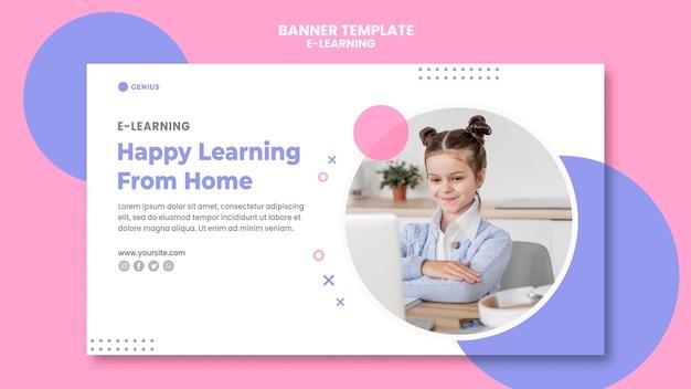 Modèle De Bannière Publicitaire E-learning Psd gratuit
