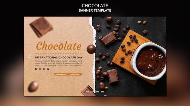 Modèle De Bannière Publicitaire De Magasin De Chocolat Psd gratuit