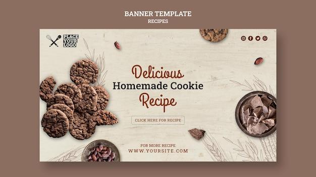 Modèle De Bannière De Recette De Délicieux Biscuits Maison Psd gratuit