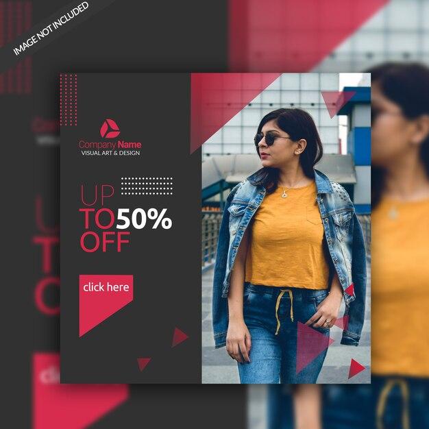 Modèle de bannière sociale mode vente PSD Premium