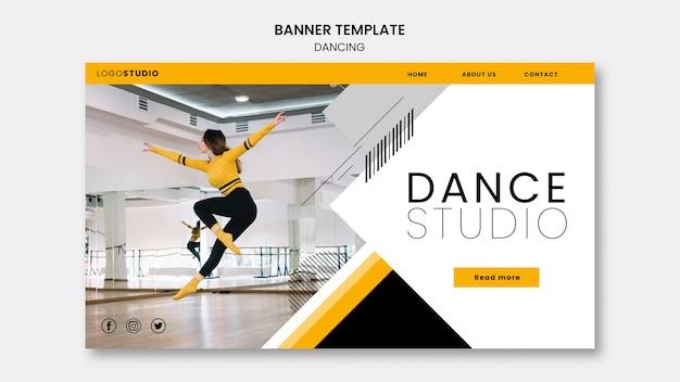 Modèle De Bannière Avec Studio De Danse Psd gratuit