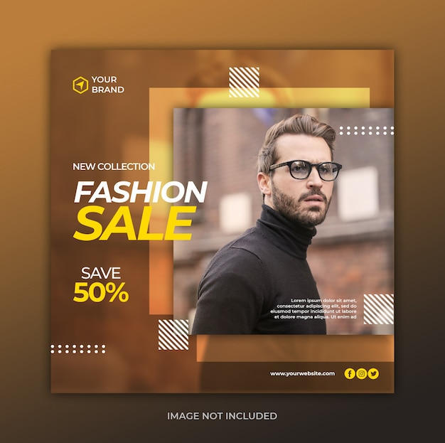 Modèle De Bannière De Vente De Mode PSD Premium