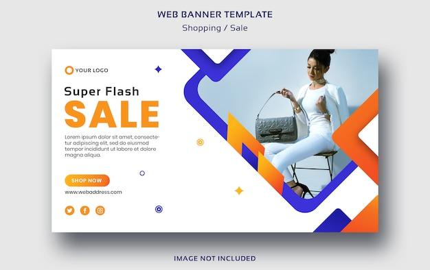 Modèle De Bannière Web Shopping Ou Vente PSD Premium