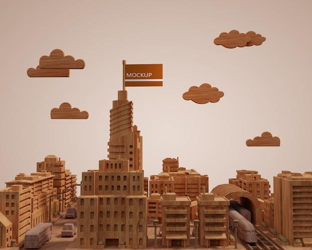 Modèle De Bâtiments 3d De Villes Maquettes Psd gratuit