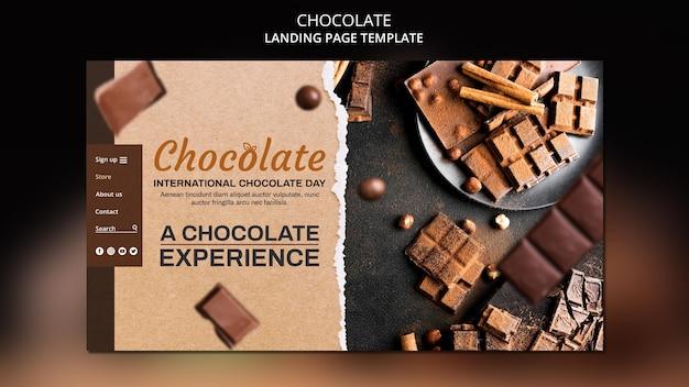 Modèle De Boutique De Chocolat De Page De Destination Psd gratuit