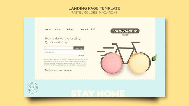 Modèle De Boutique De Macarons De Page De Destination PSD Premium