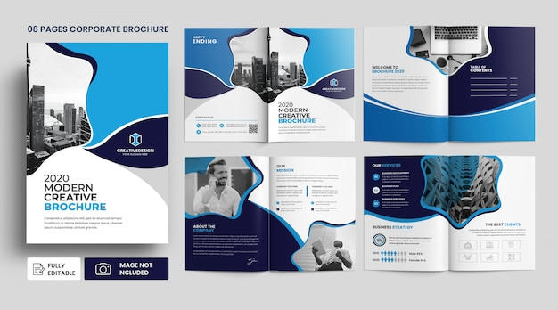 Modèle De Brochure D'entreprise D'agence D'entreprise PSD Premium