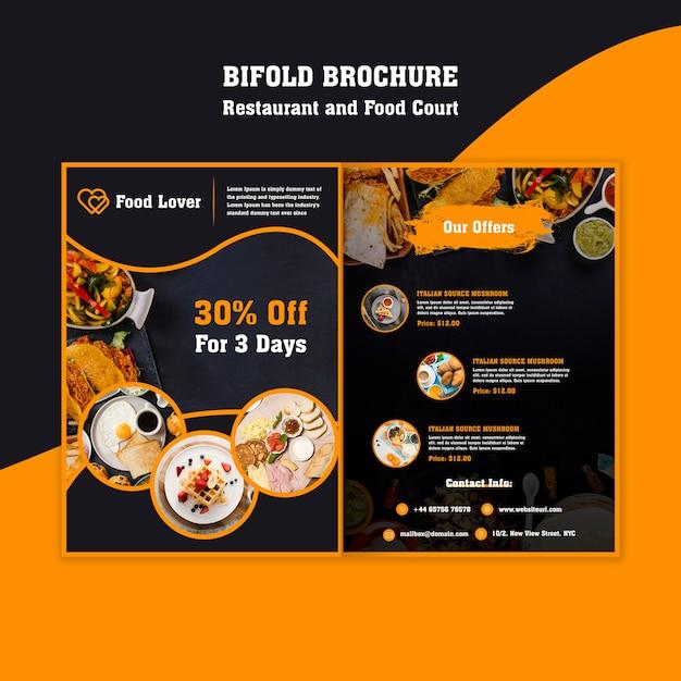 Modèle de brochure moderne pour restaurant de petit déjeuner Psd gratuit