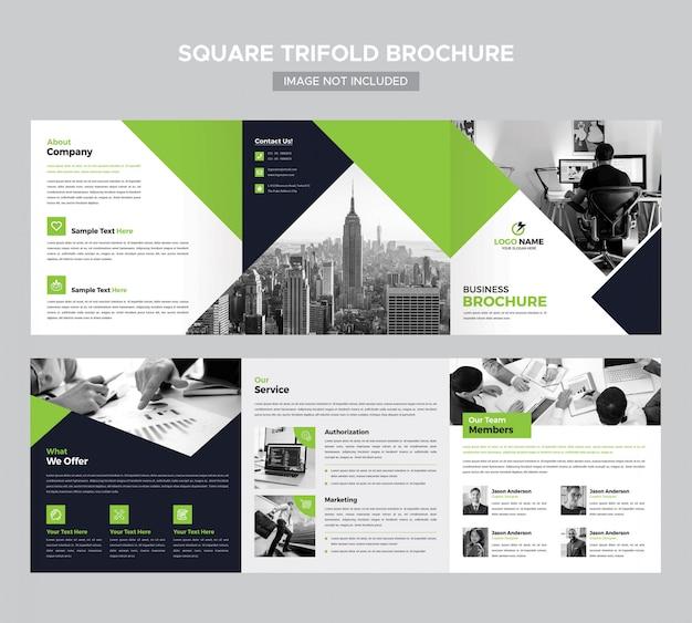 Modèle de brochure à trois places PSD Premium