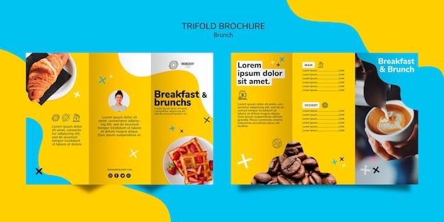 Modèle De Brochure à Trois Volets De Brunch PSD Premium